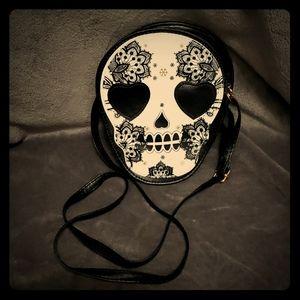Candy skull clutch
